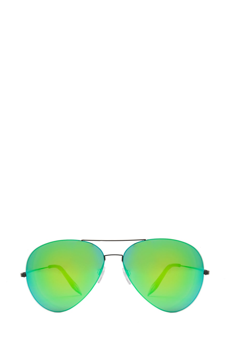 Image 1 of Victoria Beckham Feather Aviator Sunglasses in Cactus