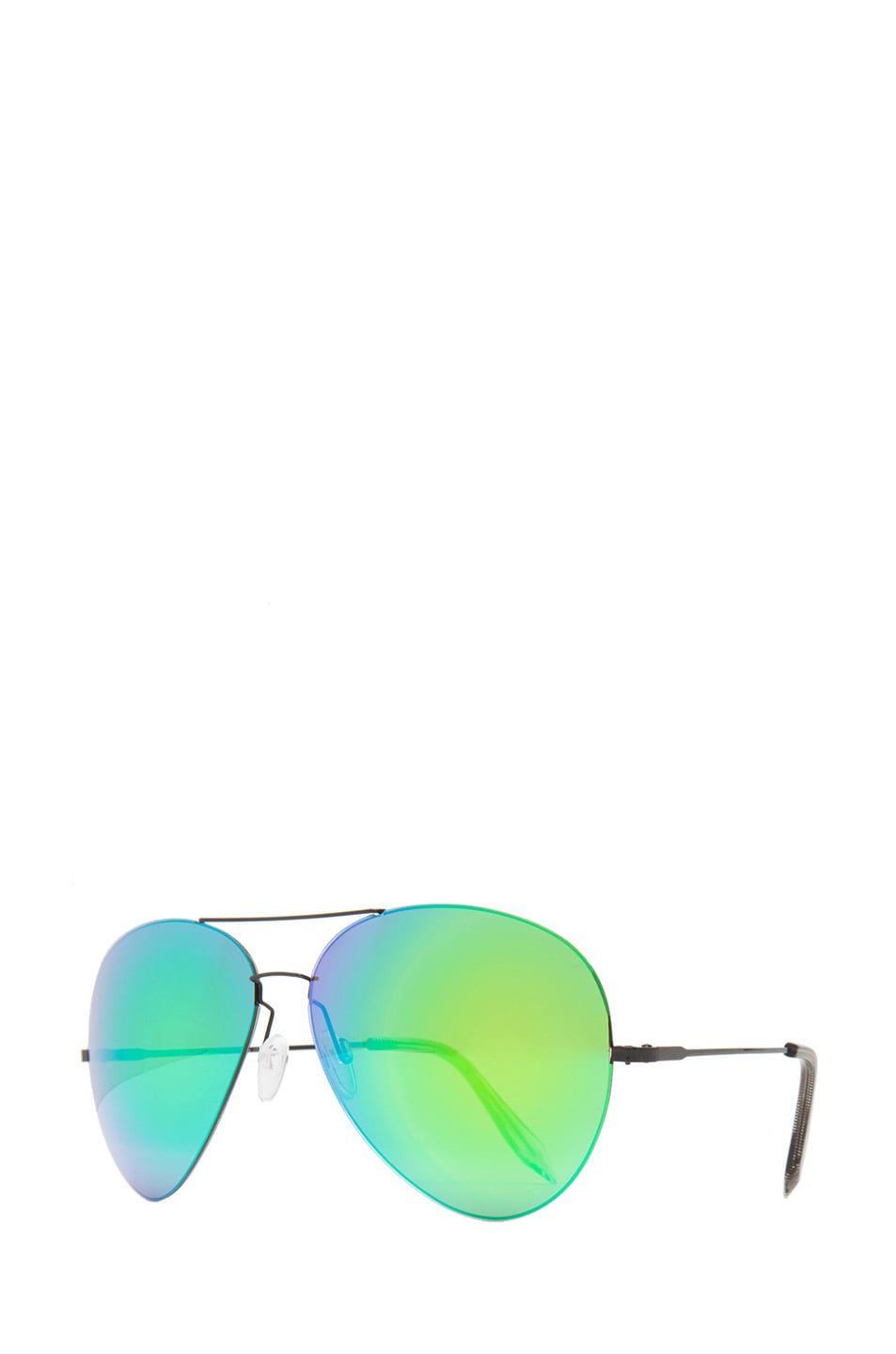 Image 2 of Victoria Beckham Feather Aviator Sunglasses in Cactus