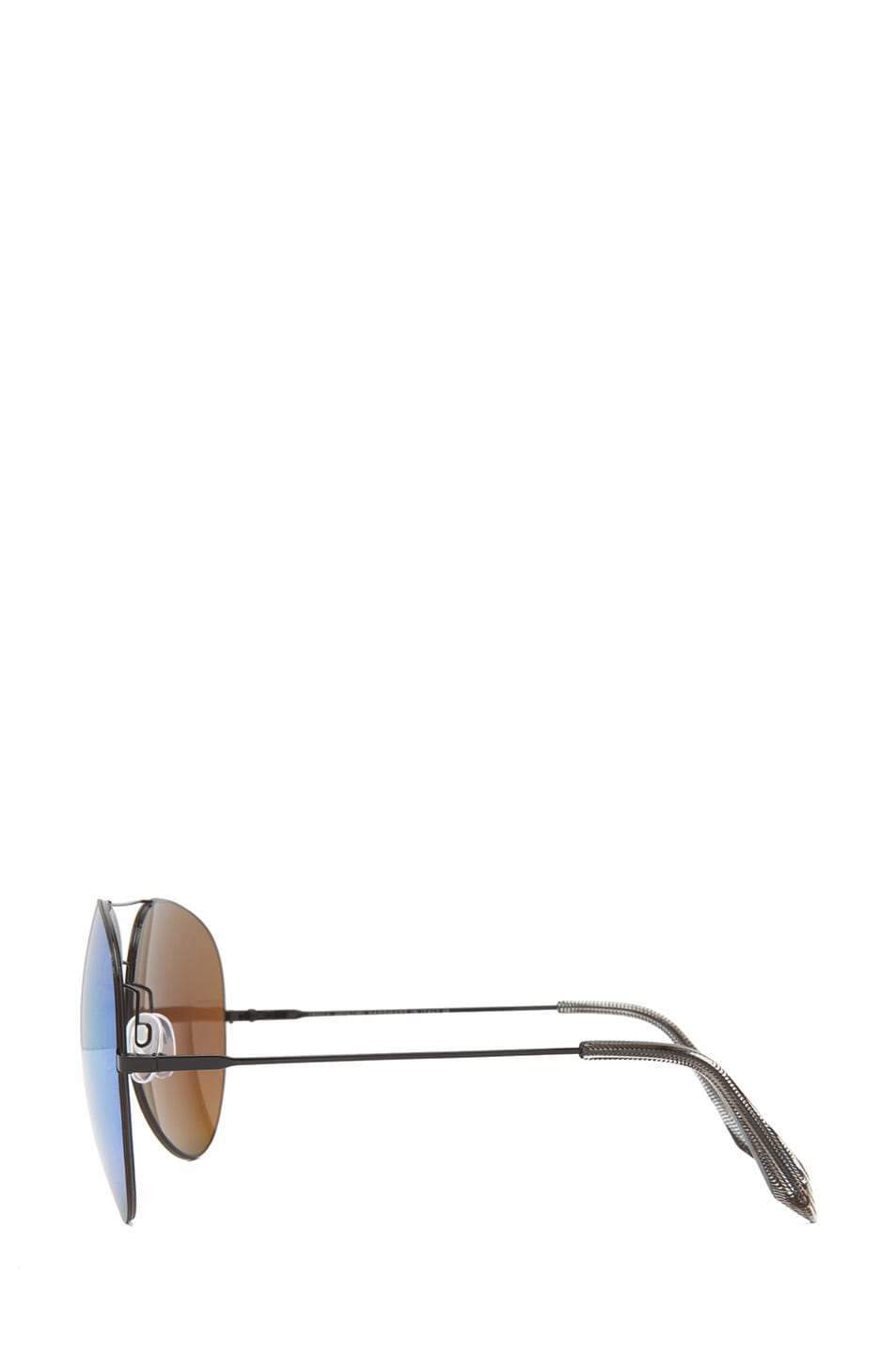Image 3 of Victoria Beckham Feather Aviator Sunglasses in Cactus
