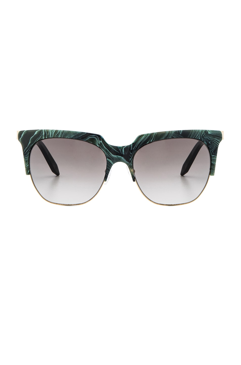 Image 1 of Victoria Beckham Layered Combination Square in Green Marble