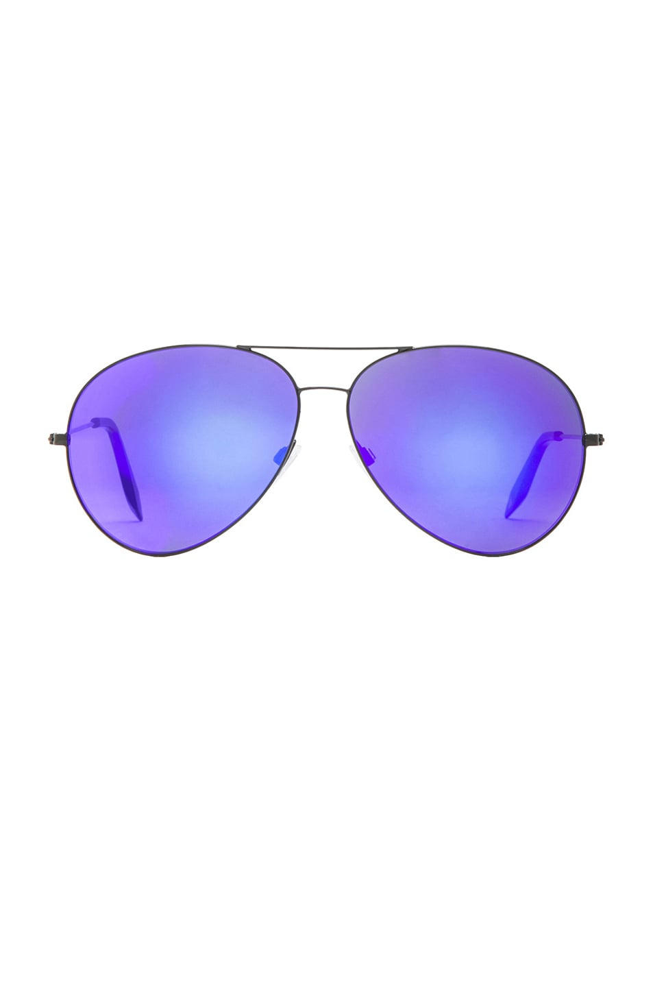 Image 1 of Victoria Beckham Classic Aviator Sunglasses in Midnight Eclipse