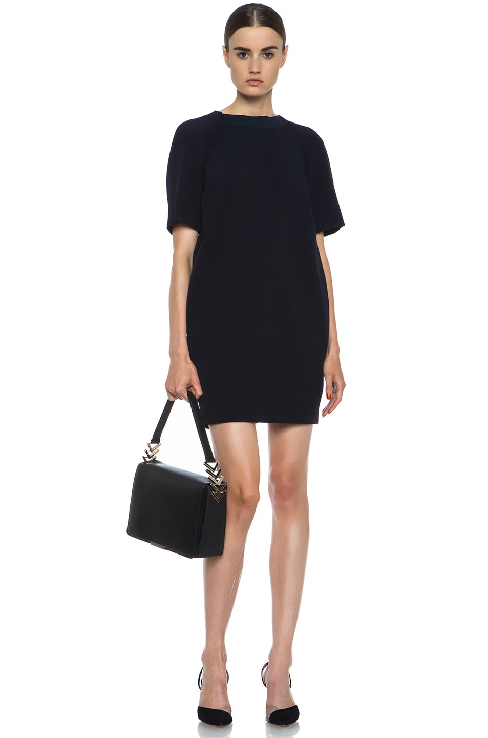 Image 6 of Victoria Beckham V Link Shoulder Bag in Black
