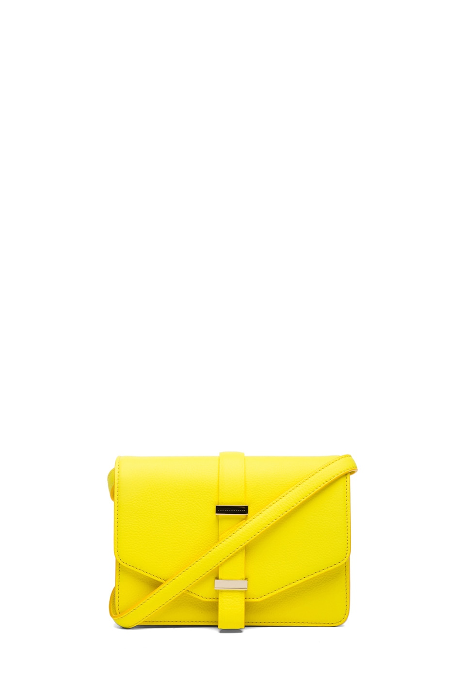 Image 1 of Victoria Beckham Mini Satchel in Acid Lemon
