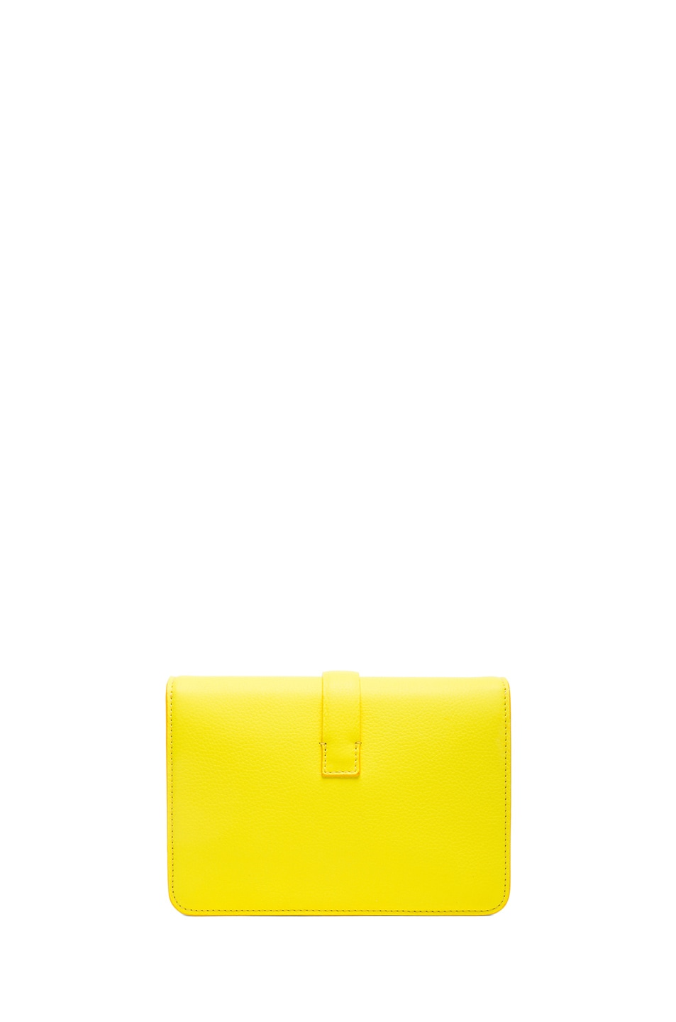 Image 2 of Victoria Beckham Mini Satchel in Acid Lemon
