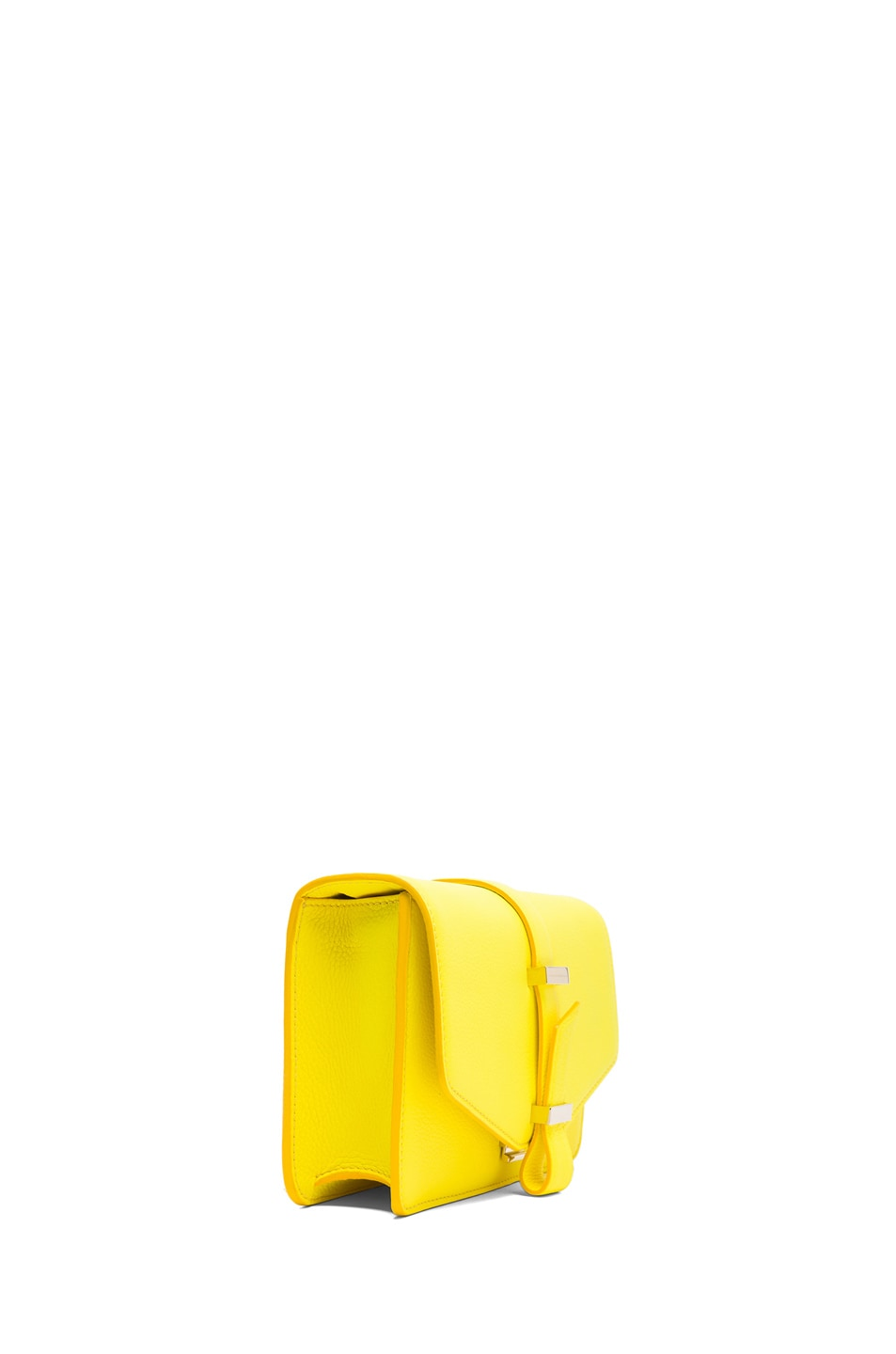 Image 3 of Victoria Beckham Mini Satchel in Acid Lemon