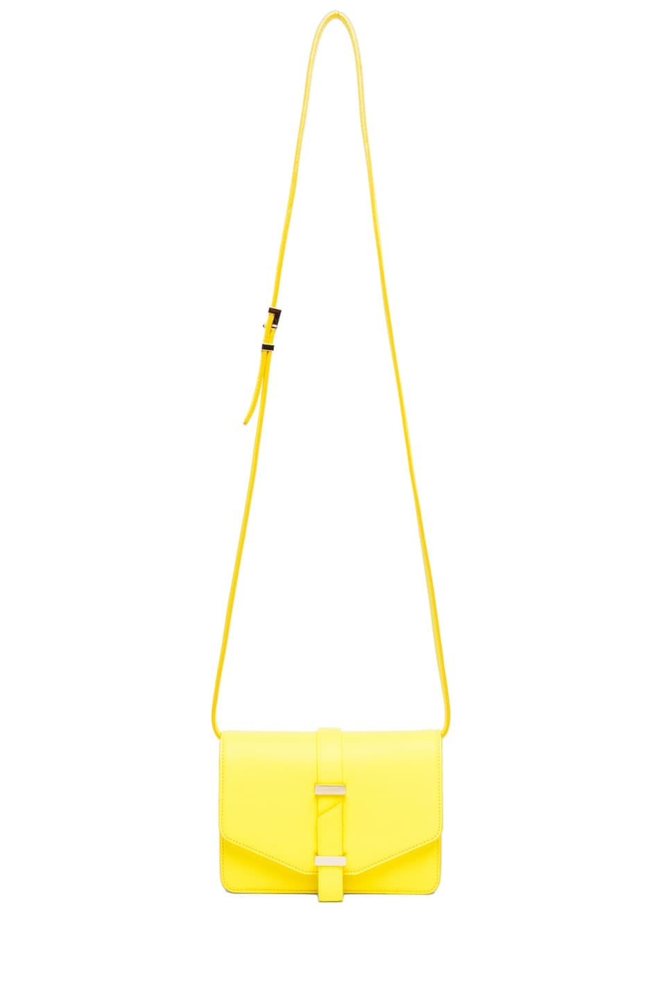 Image 5 of Victoria Beckham Mini Satchel in Acid Lemon