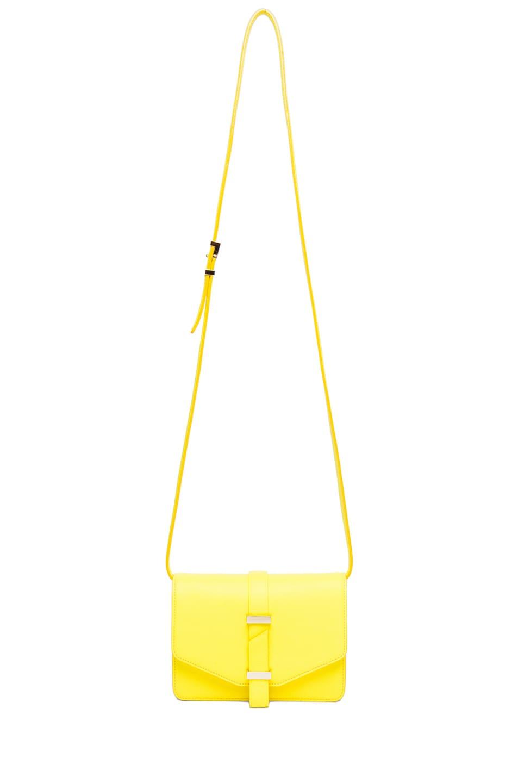 Image 5 of Victoria Beckham Mini Satchel in Acid Lemon