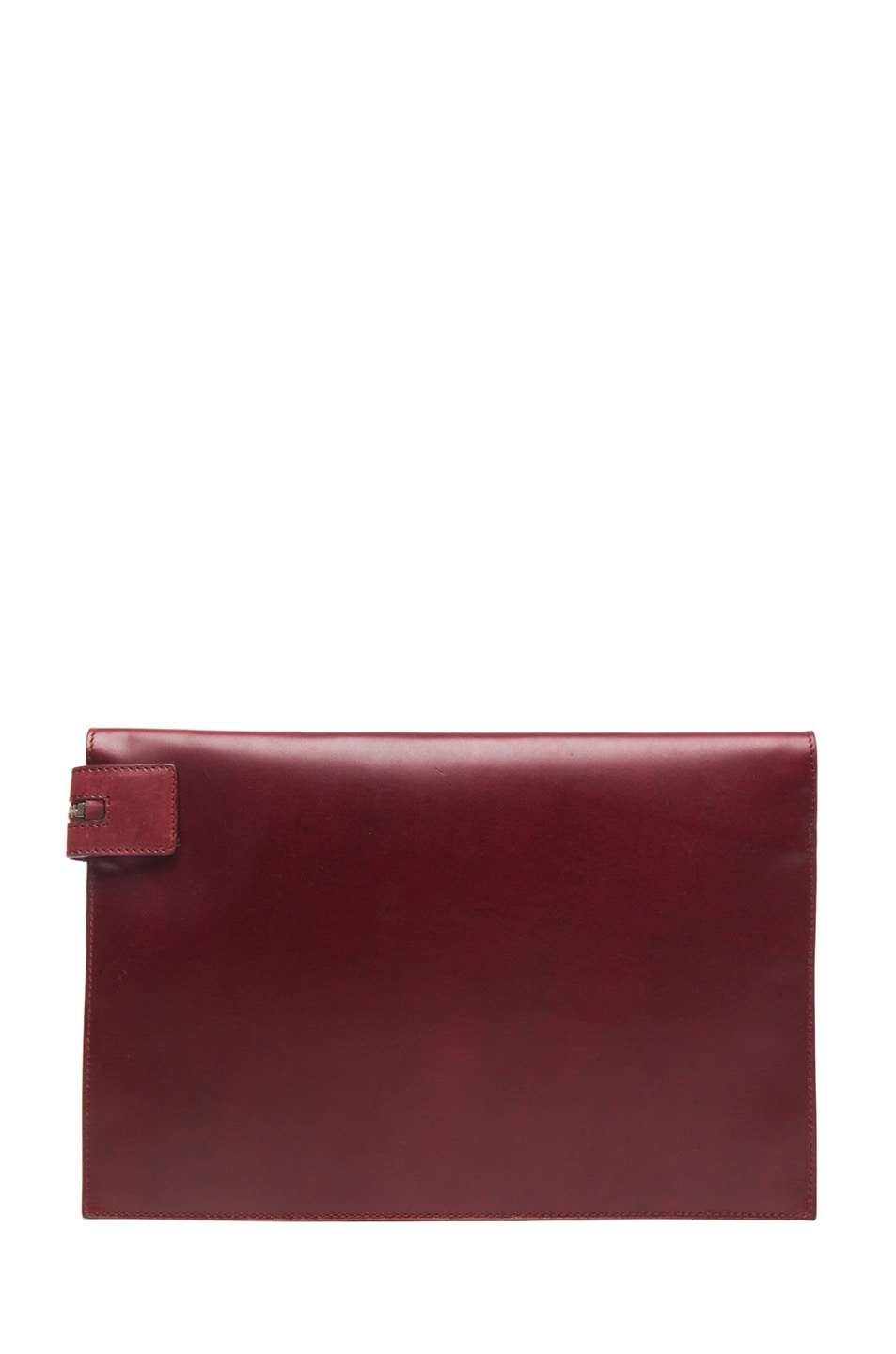 Image 2 of Victoria Beckham Large Zip Pouch in Oxblood