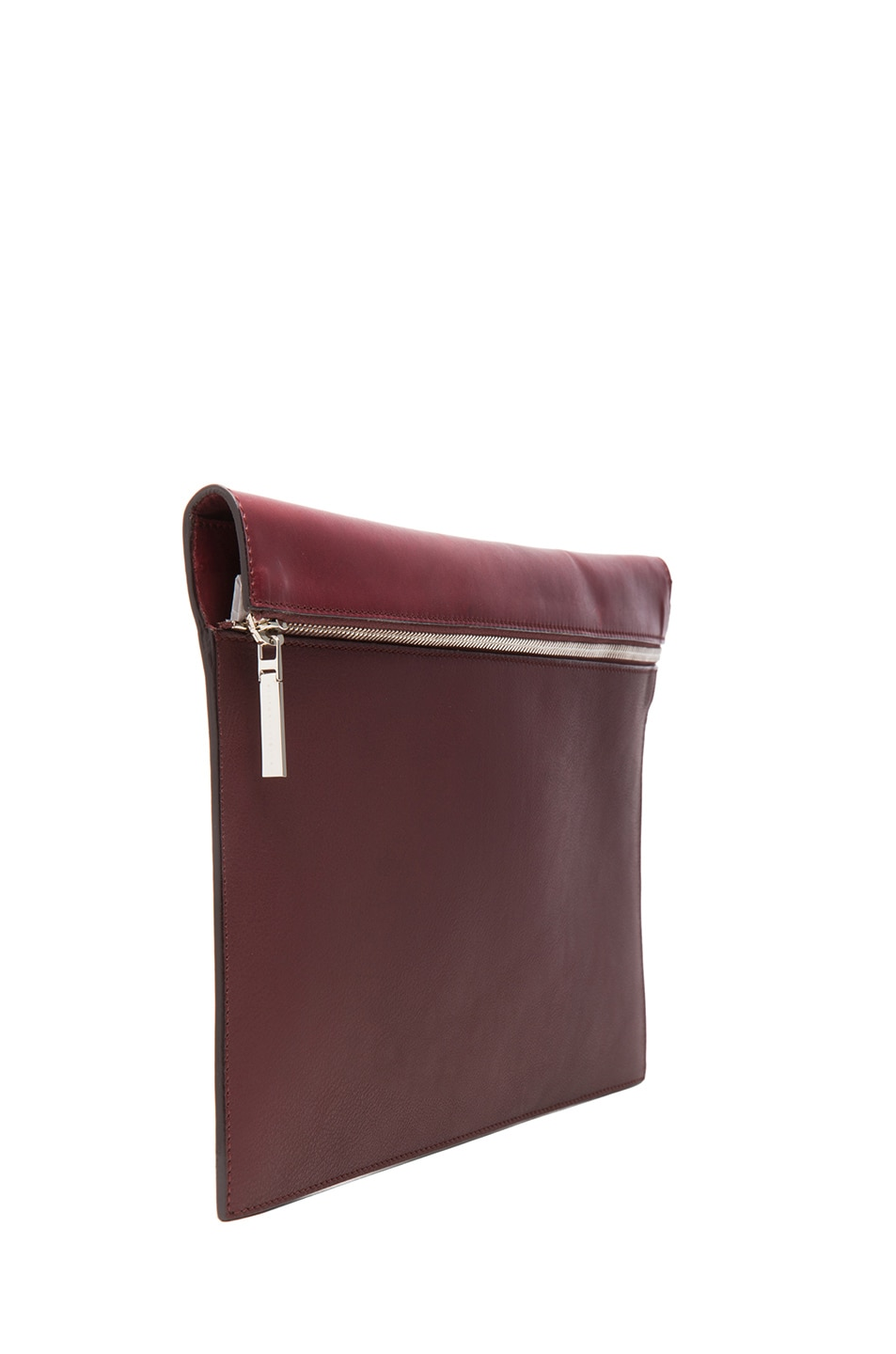Image 3 of Victoria Beckham Large Zip Pouch in Oxblood
