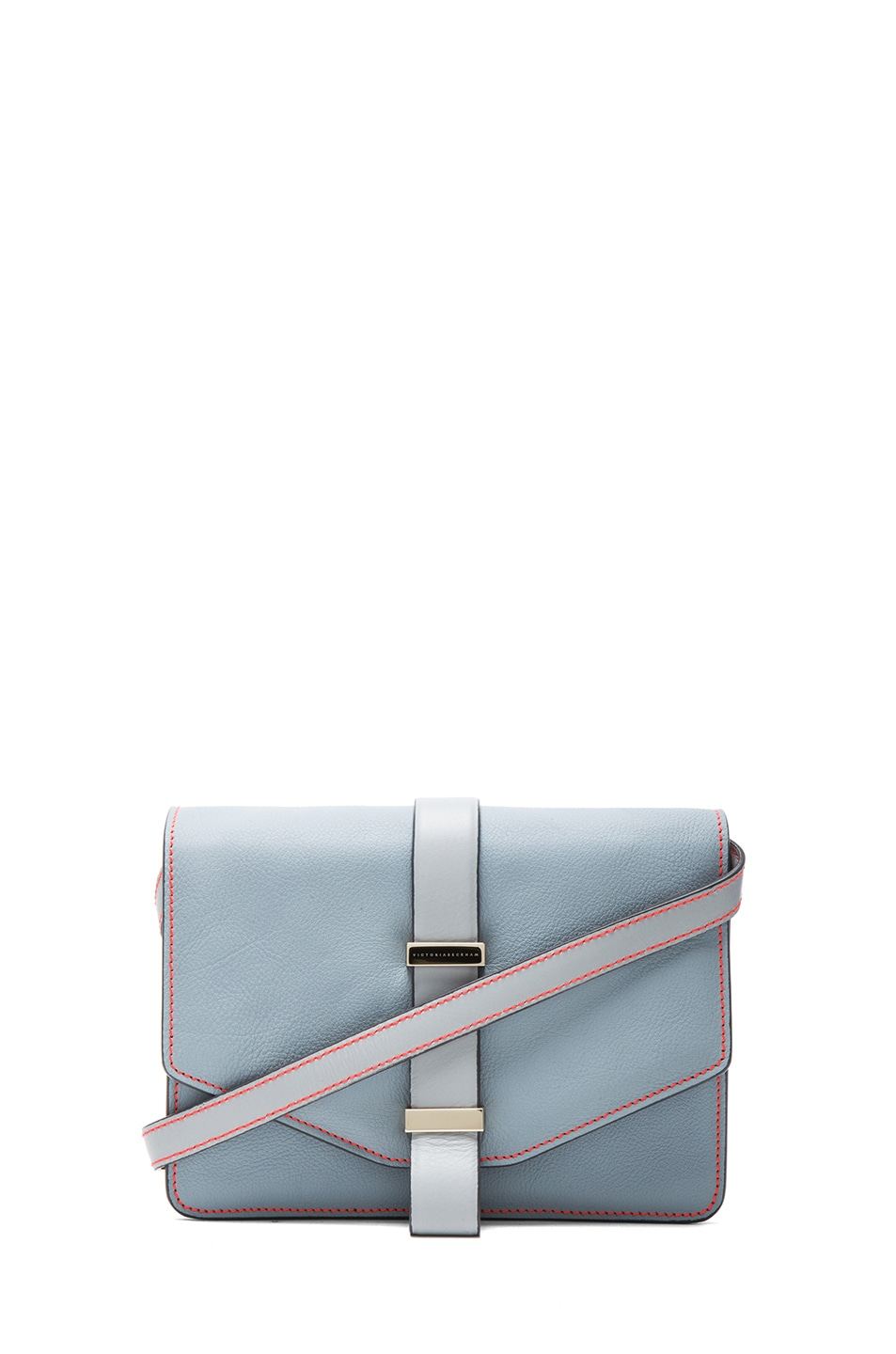 Image 1 of Victoria Beckham Mini Satchel in Rainy Day