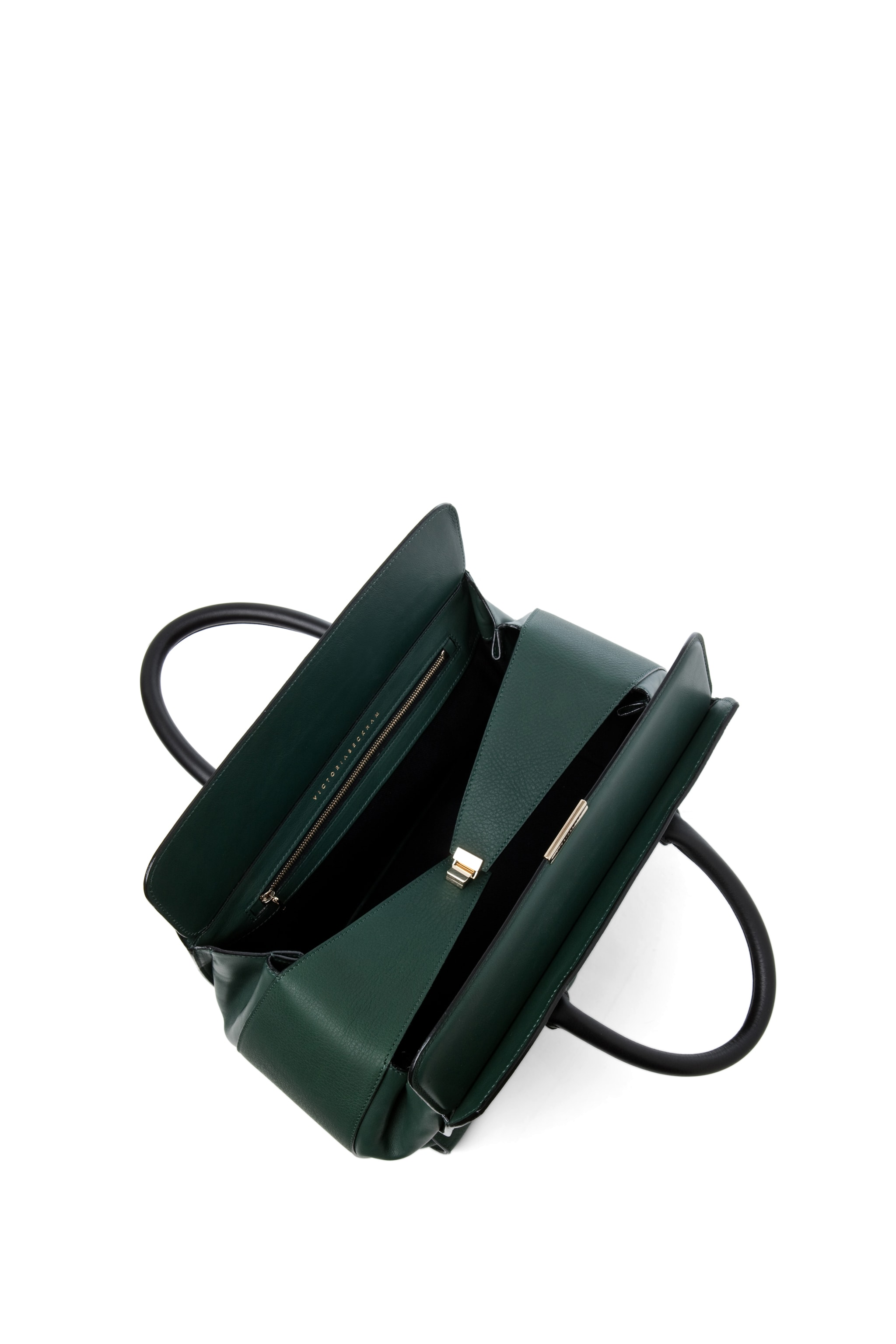 Image 4 of Victoria Beckham The Soft Victoria Bag in Forest Green