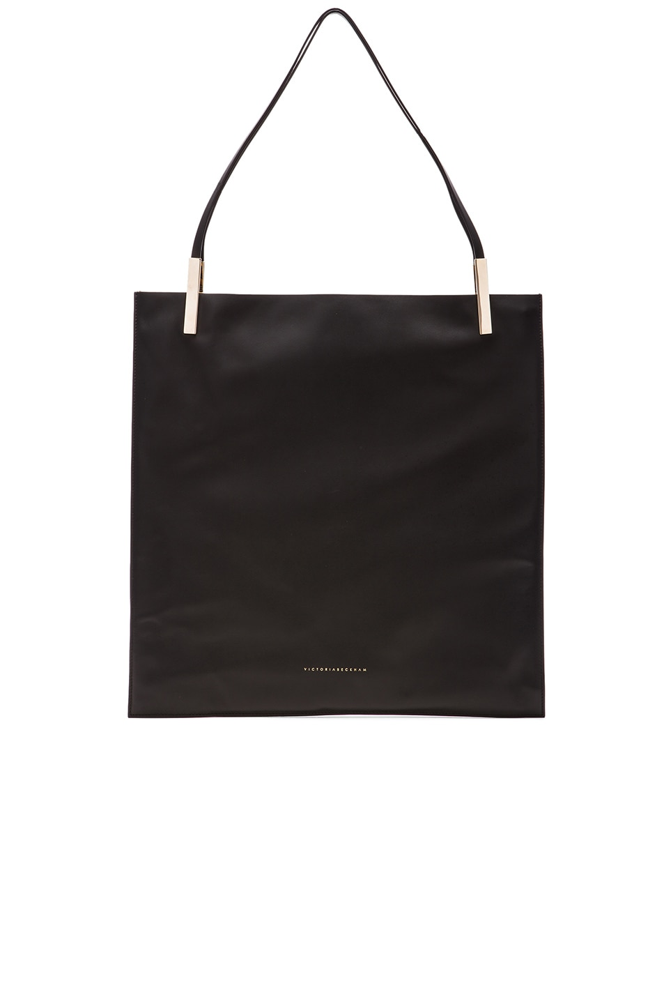 Image 1 of Victoria Beckham Flat Calf Tote in Black