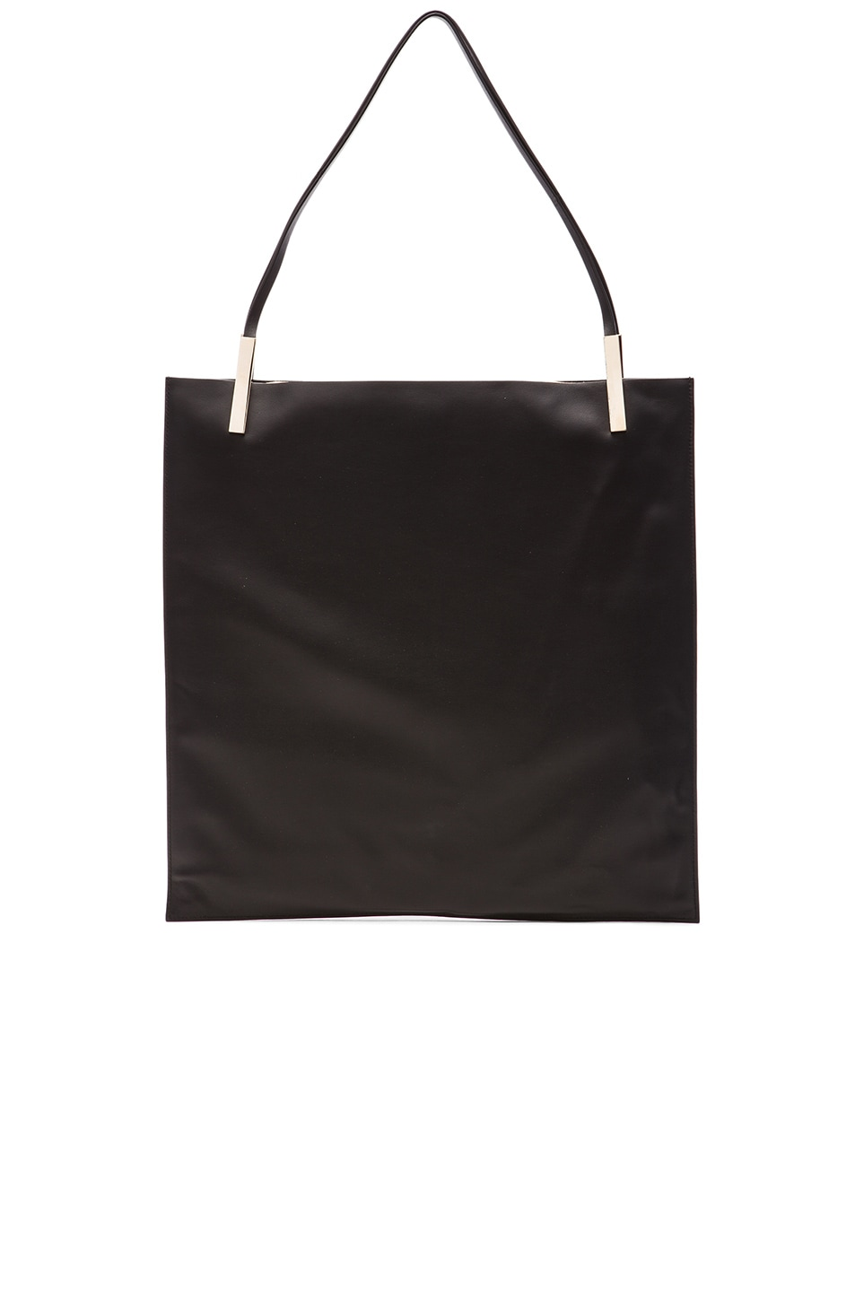Image 3 of Victoria Beckham Flat Calf Tote in Black