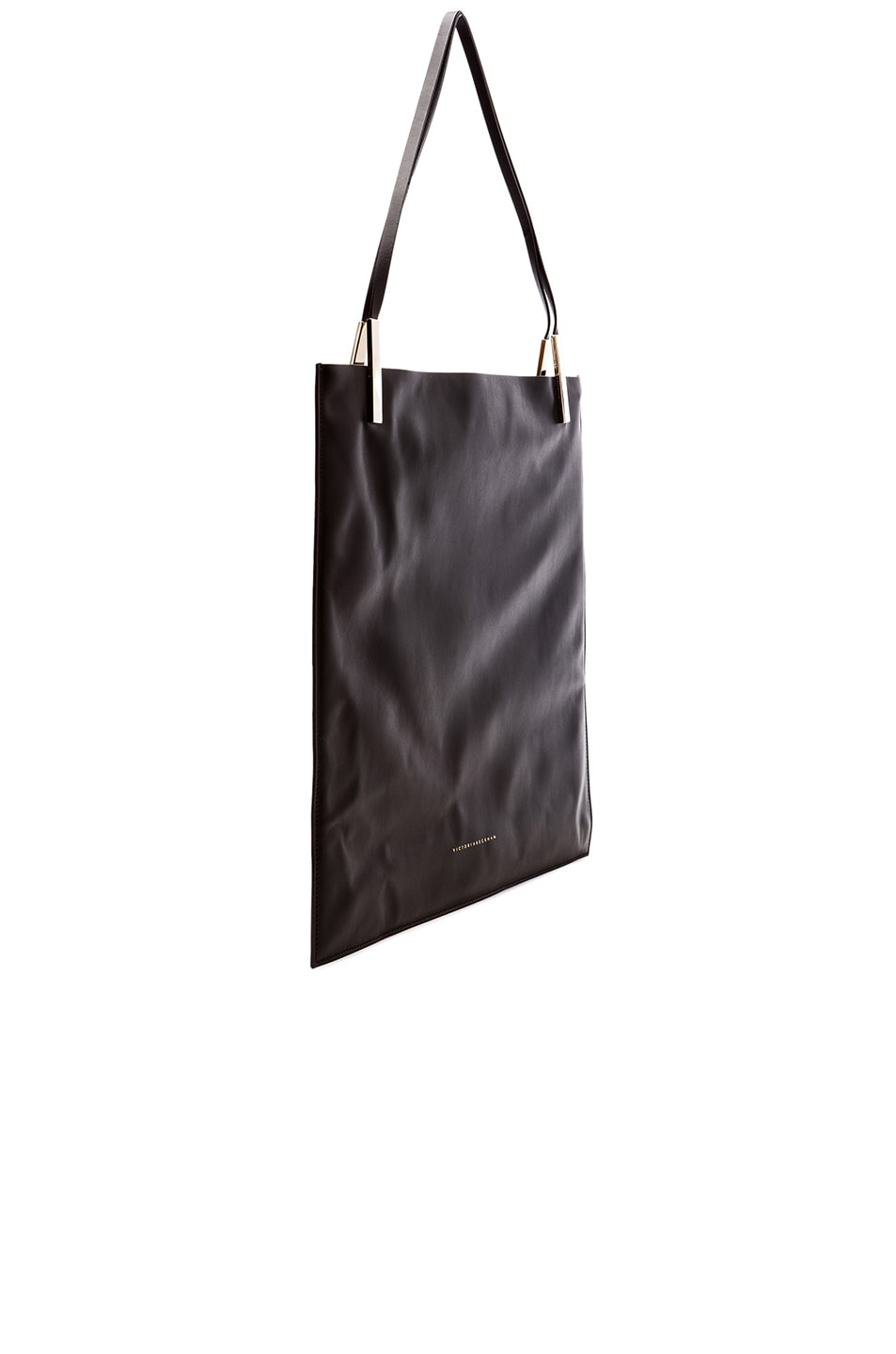 Image 4 of Victoria Beckham Flat Calf Tote in Black