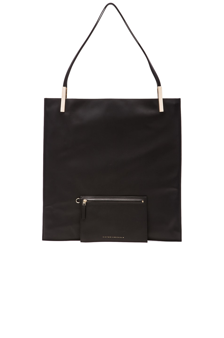 Image 6 of Victoria Beckham Flat Calf Tote in Black