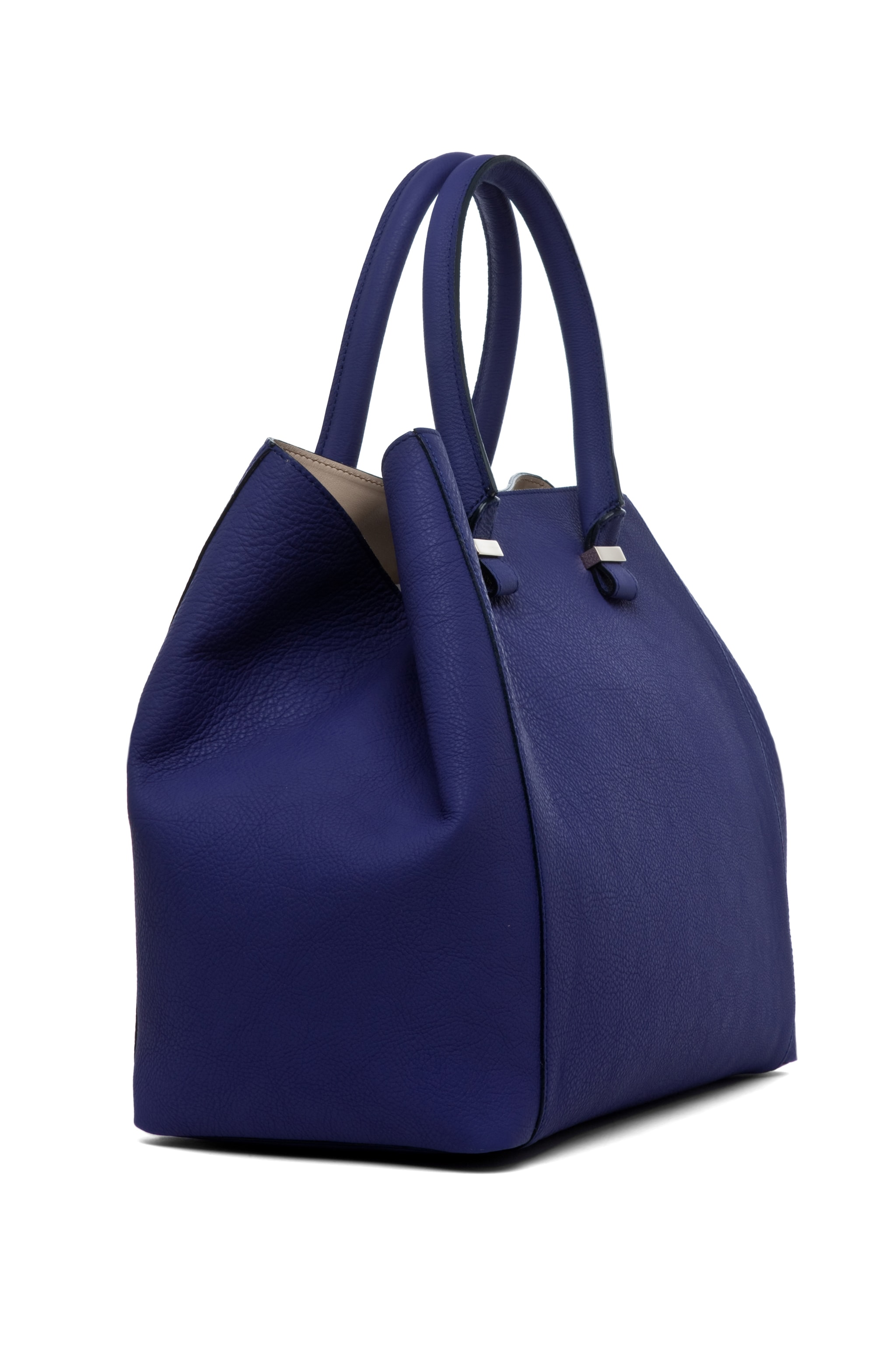 Image 3 of Victoria Beckham Georgia Tote in Purple & Powder