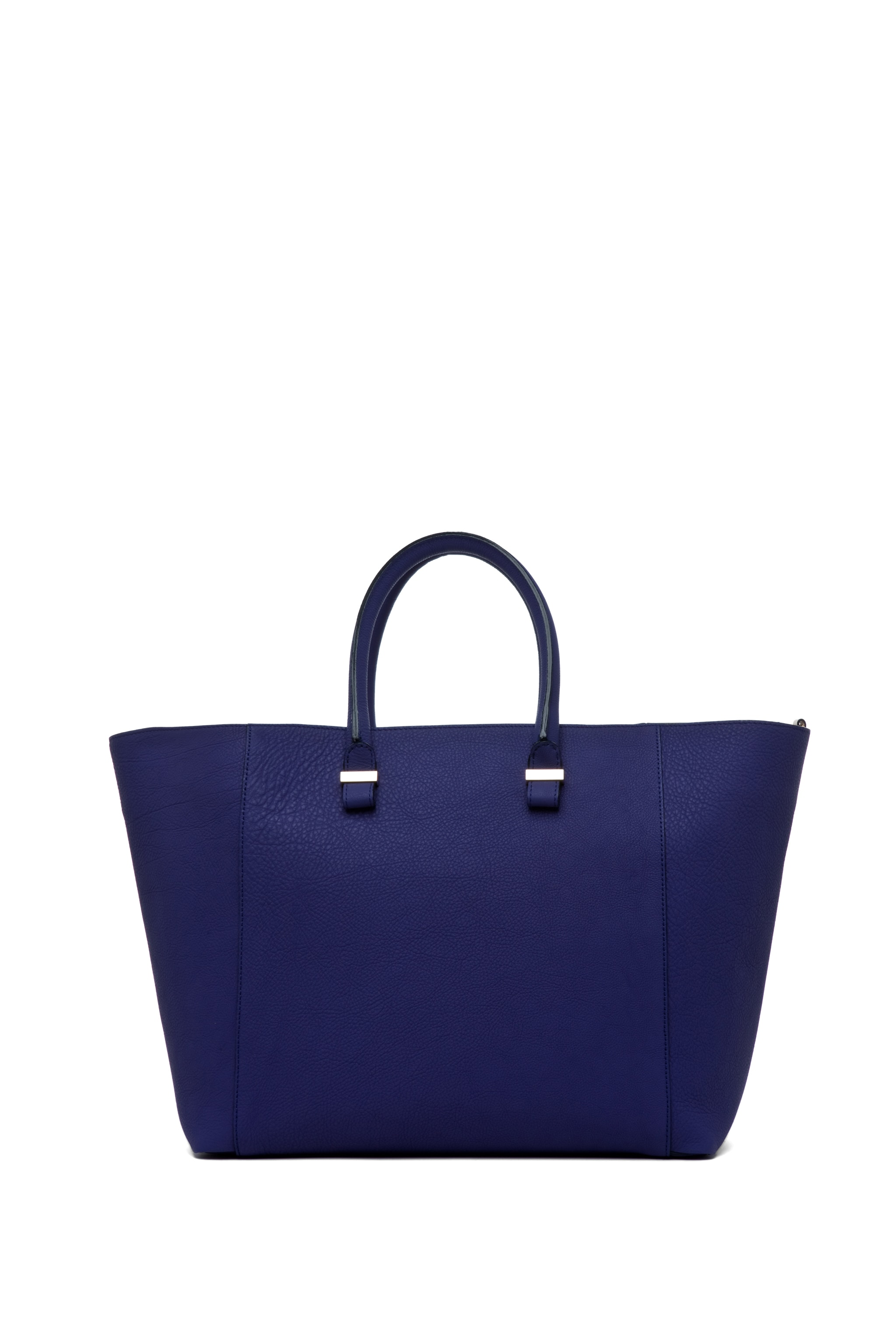 Image 4 of Victoria Beckham Georgia Tote in Purple & Powder