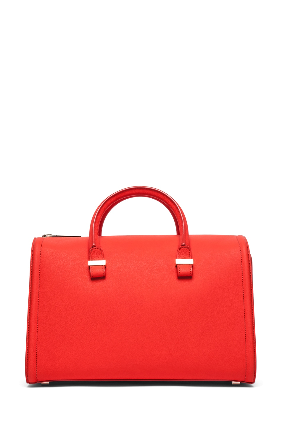 Image 1 of Victoria Beckham Mini Victoria Tote in Sunset