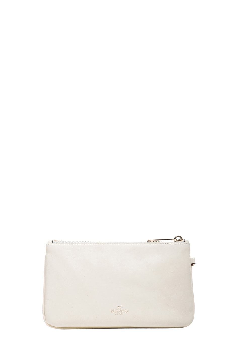 Image 2 of Valentino Rockstud Wrist Clutch in Light Ivory
