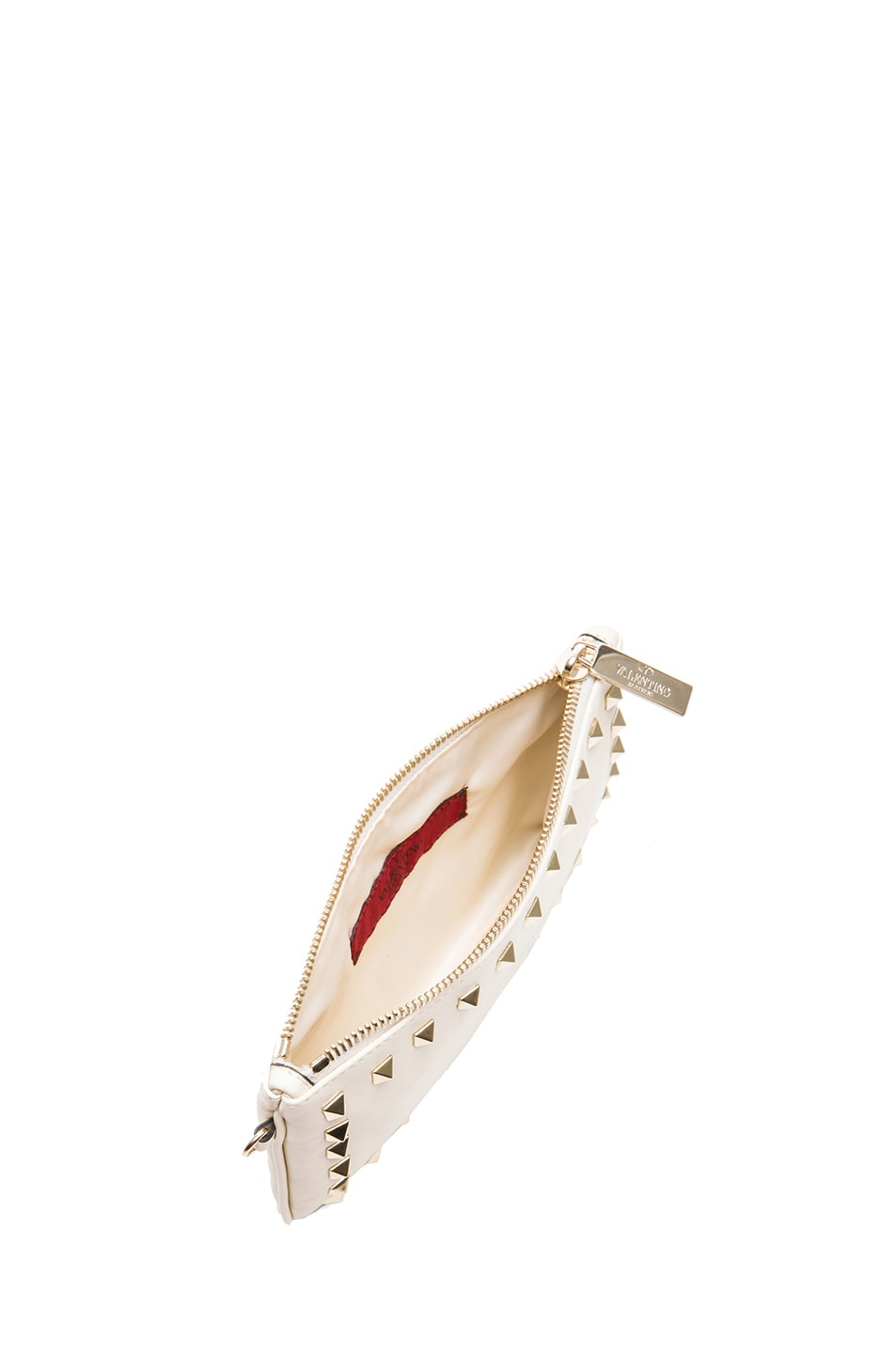 Image 4 of Valentino Rockstud Wrist Clutch in Light Ivory