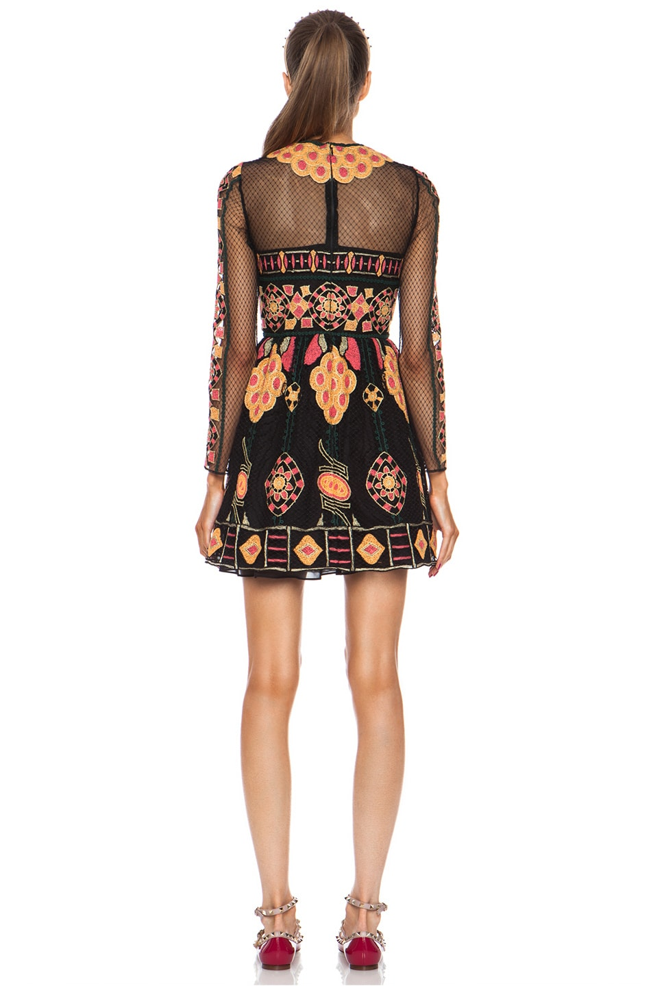 Image 4 of Valentino Bambolina Polyamide Skirt Dress in Black