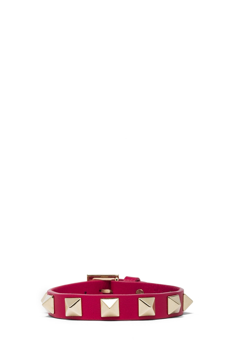 Image 1 of Valentino Rockstud Small Bracelet in Cyclamin