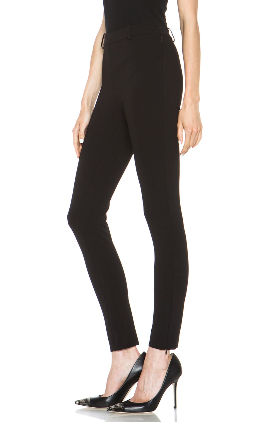 Image 2 of Valentino Compact Jersey Legging in Black