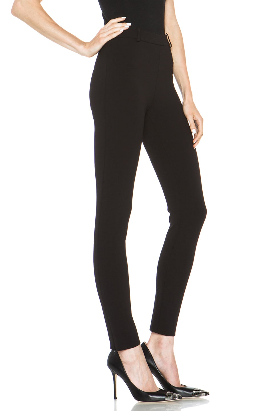 Image 3 of Valentino Compact Jersey Legging in Black
