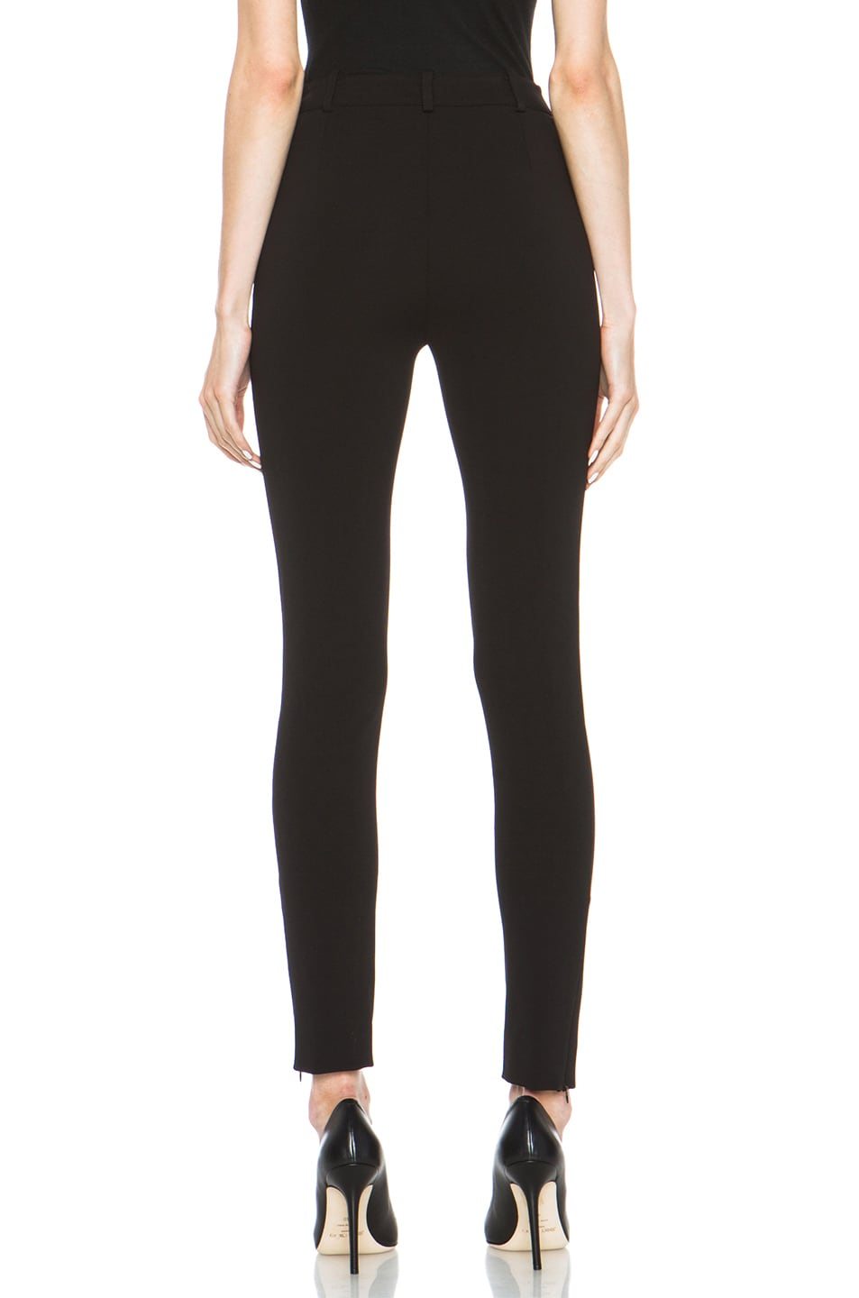 Image 4 of Valentino Compact Jersey Legging in Black