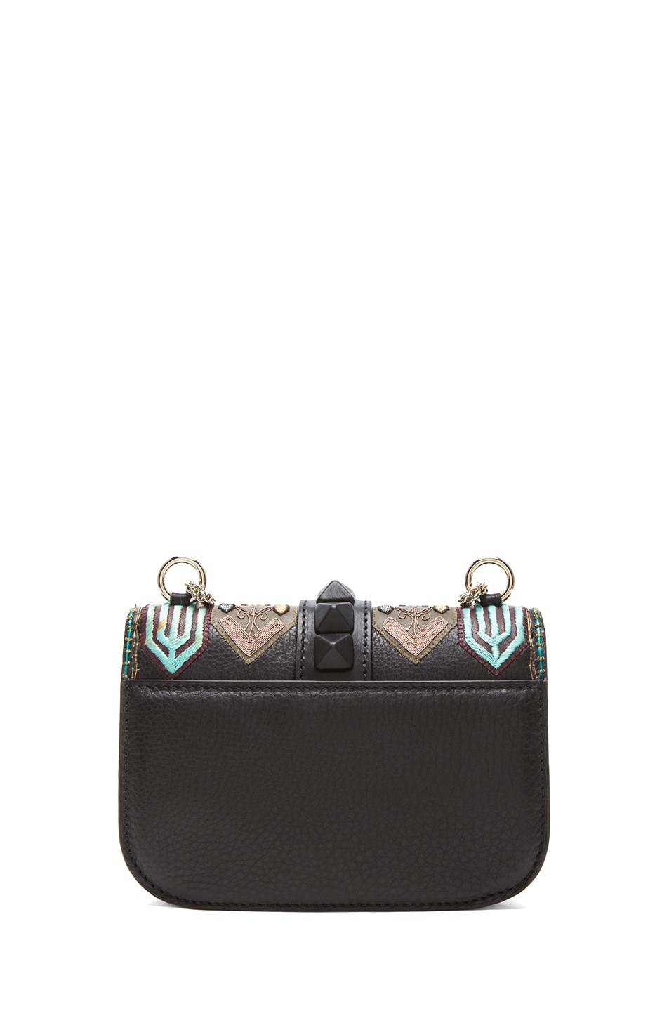 Image 2 of Valentino Small Lock Flap Bag in Black