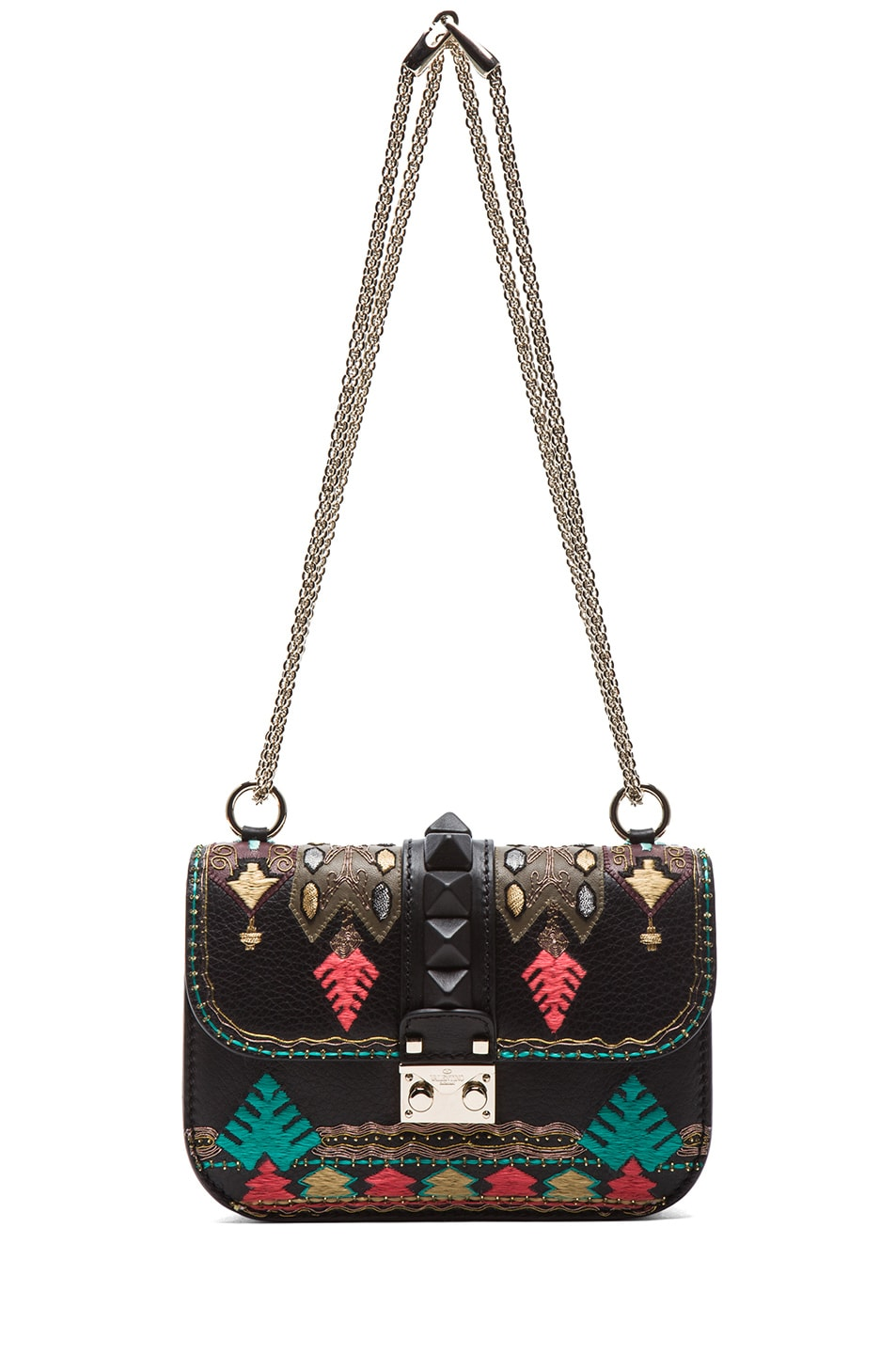Image 5 of Valentino Small Lock Flap Bag in Black