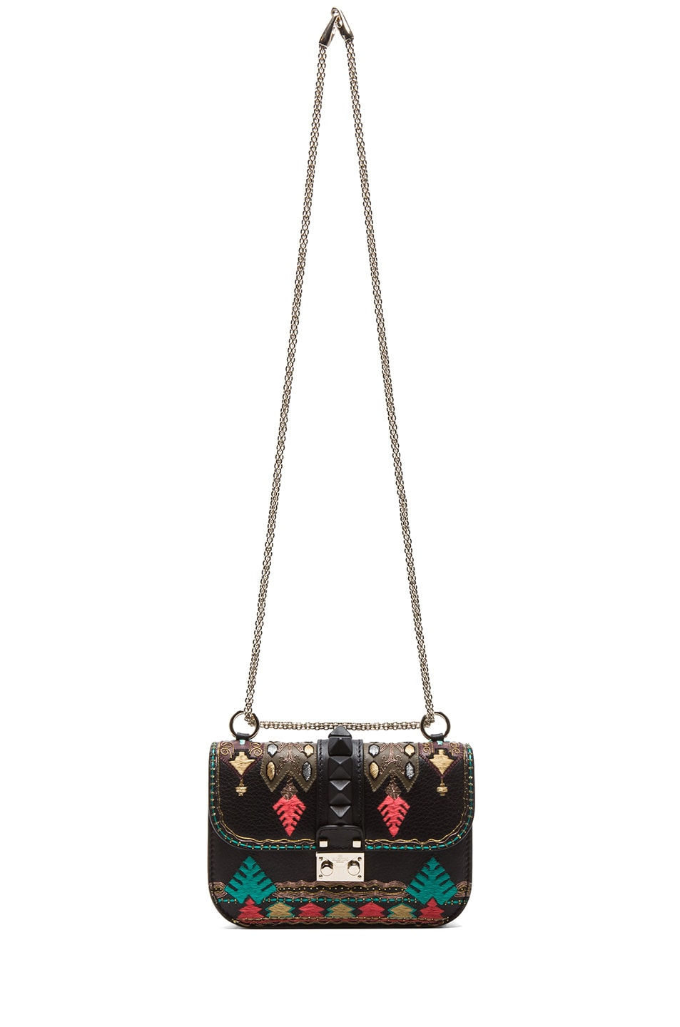 Image 6 of Valentino Small Lock Flap Bag in Black