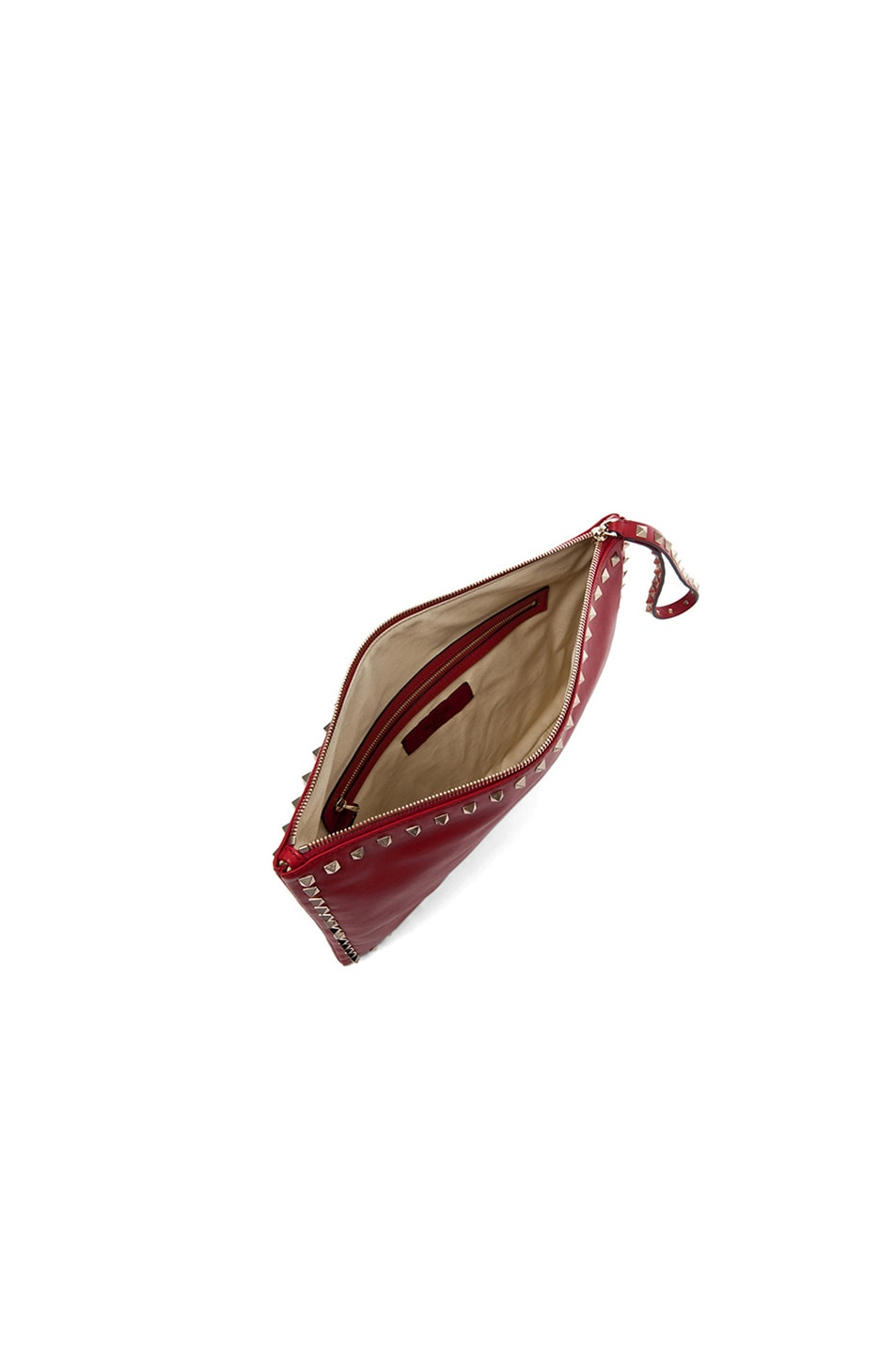 Image 5 of Valentino Small Rockstud Clutch in Red