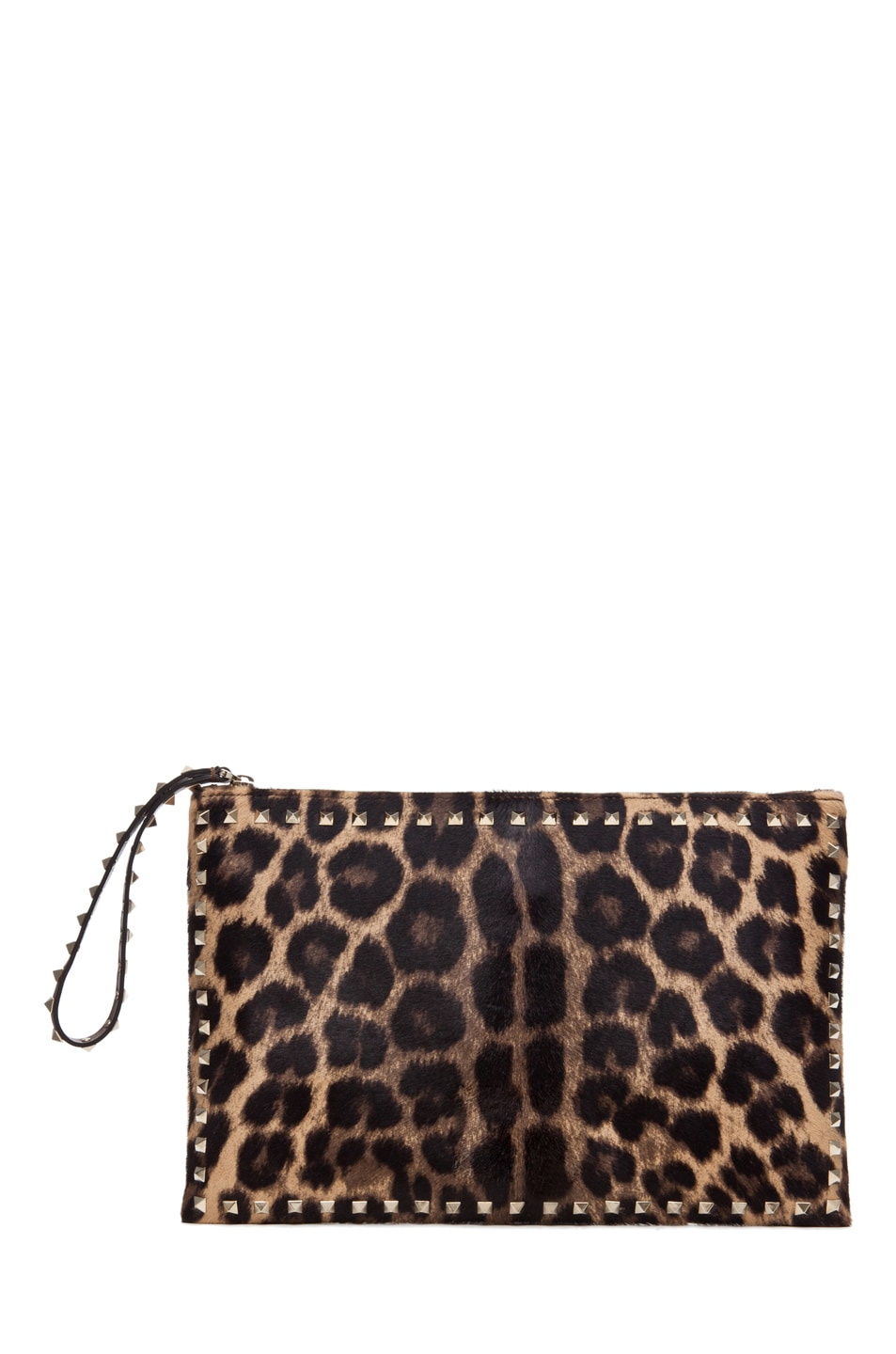 Image 1 of Valentino Rockstud Small Clutch in Leopard