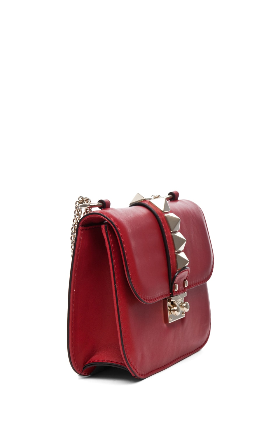 Image 3 of Valentino Lock Flap Bag in Red