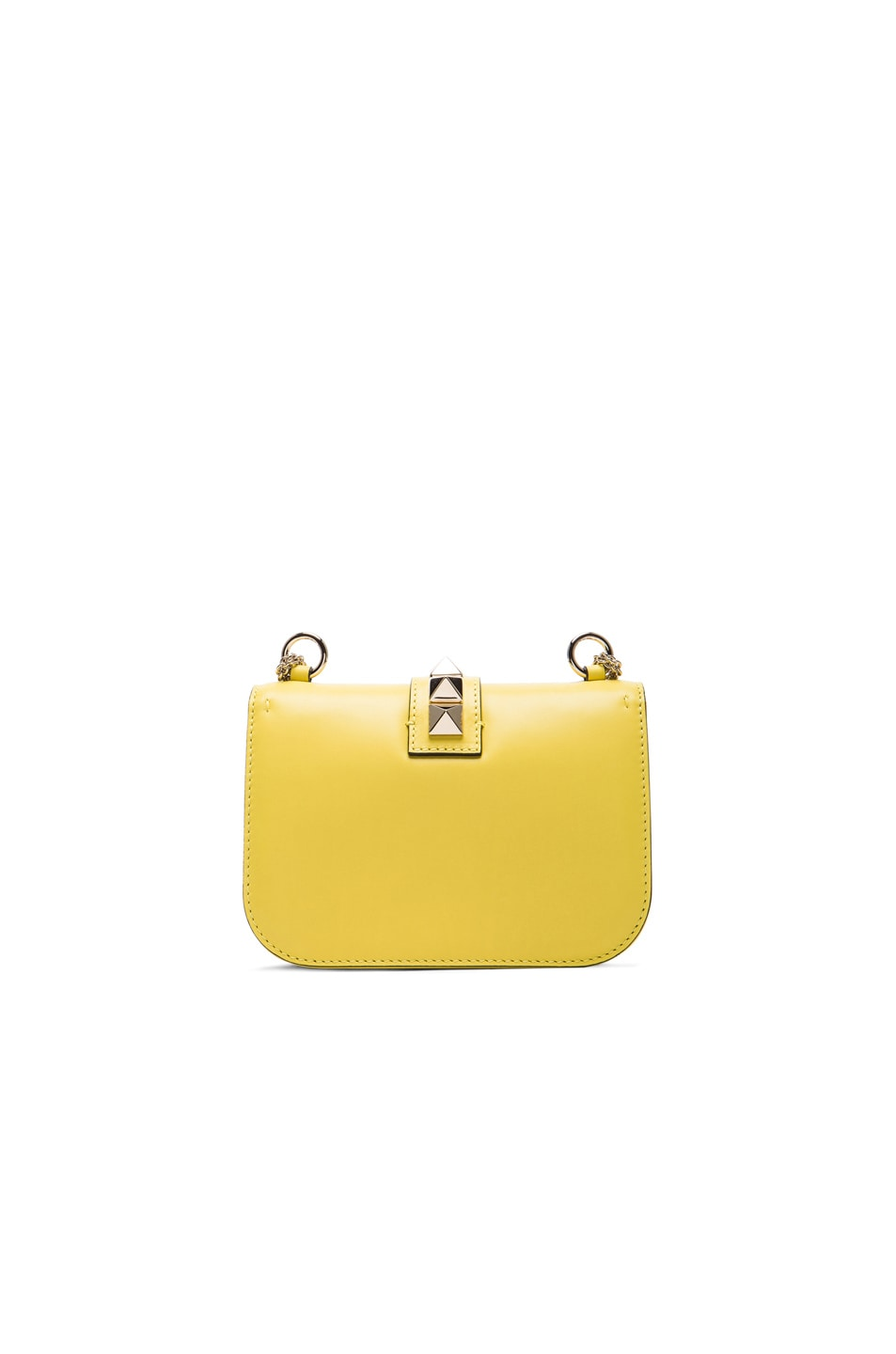 Image 3 of Valentino Small Lock Shoulder Bag in Naples Yellow