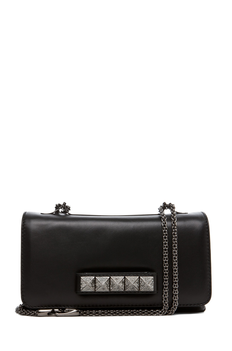 Image 1 of Valentino Va Va Voom Noir Small Flap Bag in Black