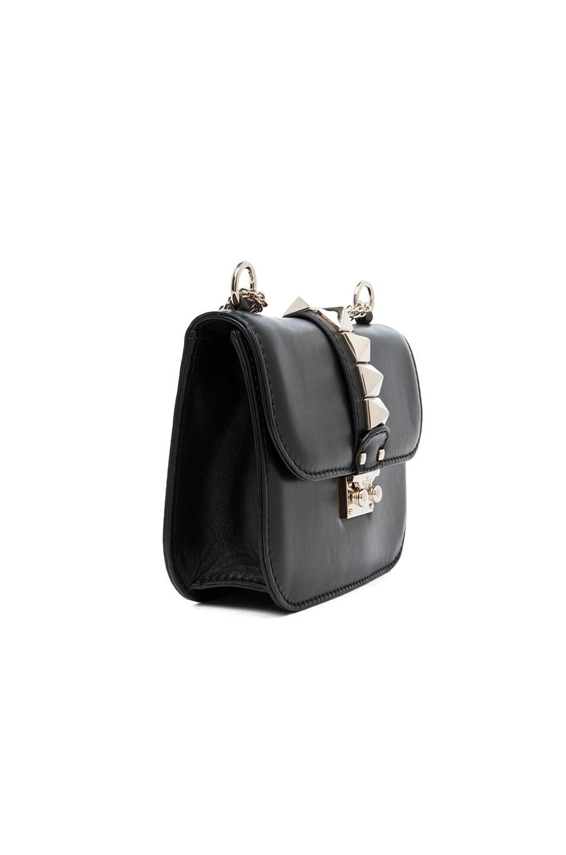 Image 2 of Valentino Mini Lock Flap Bag in Black