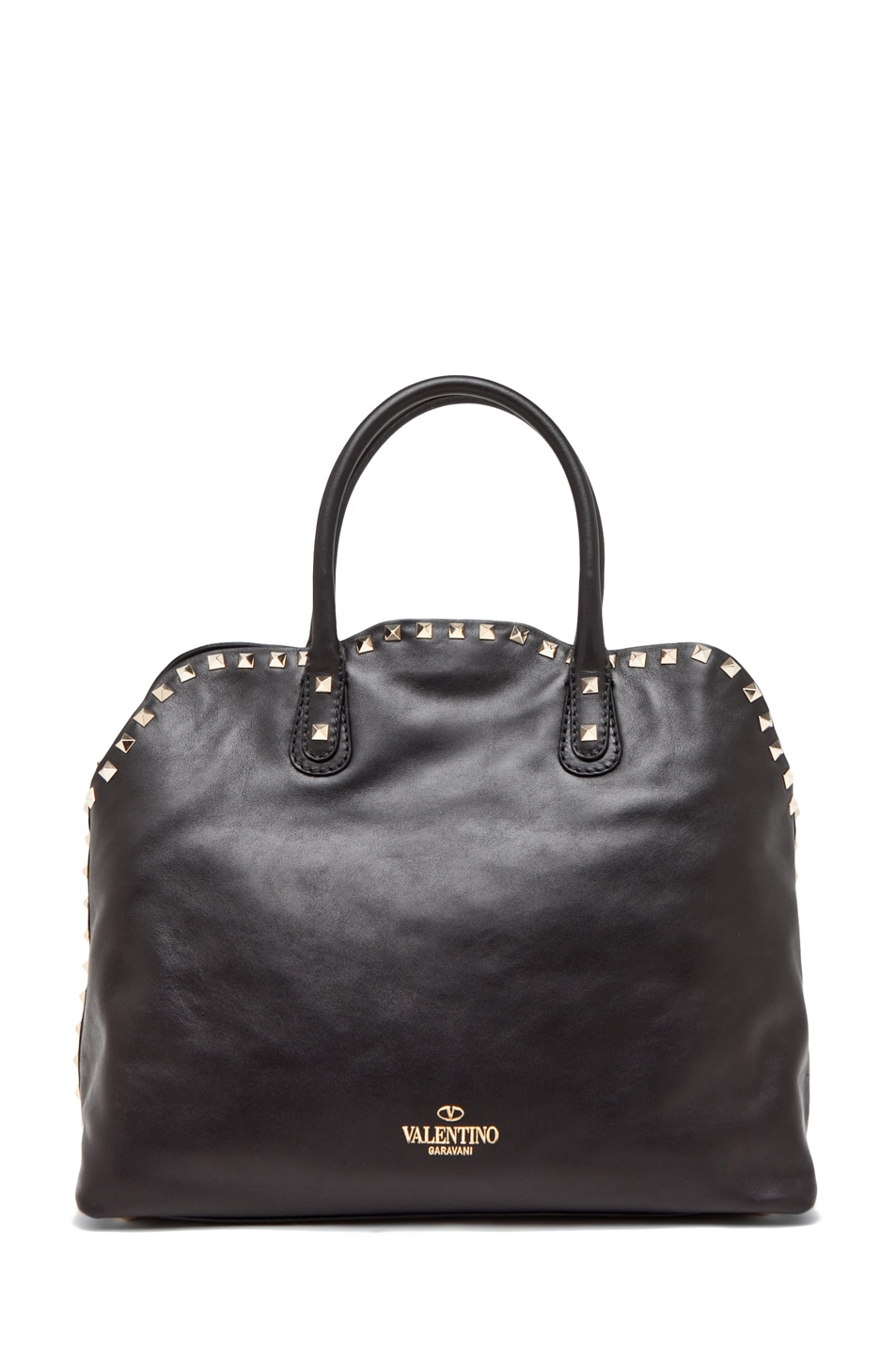 Image 2 of Valentino Rockstud Dome Bag in Black