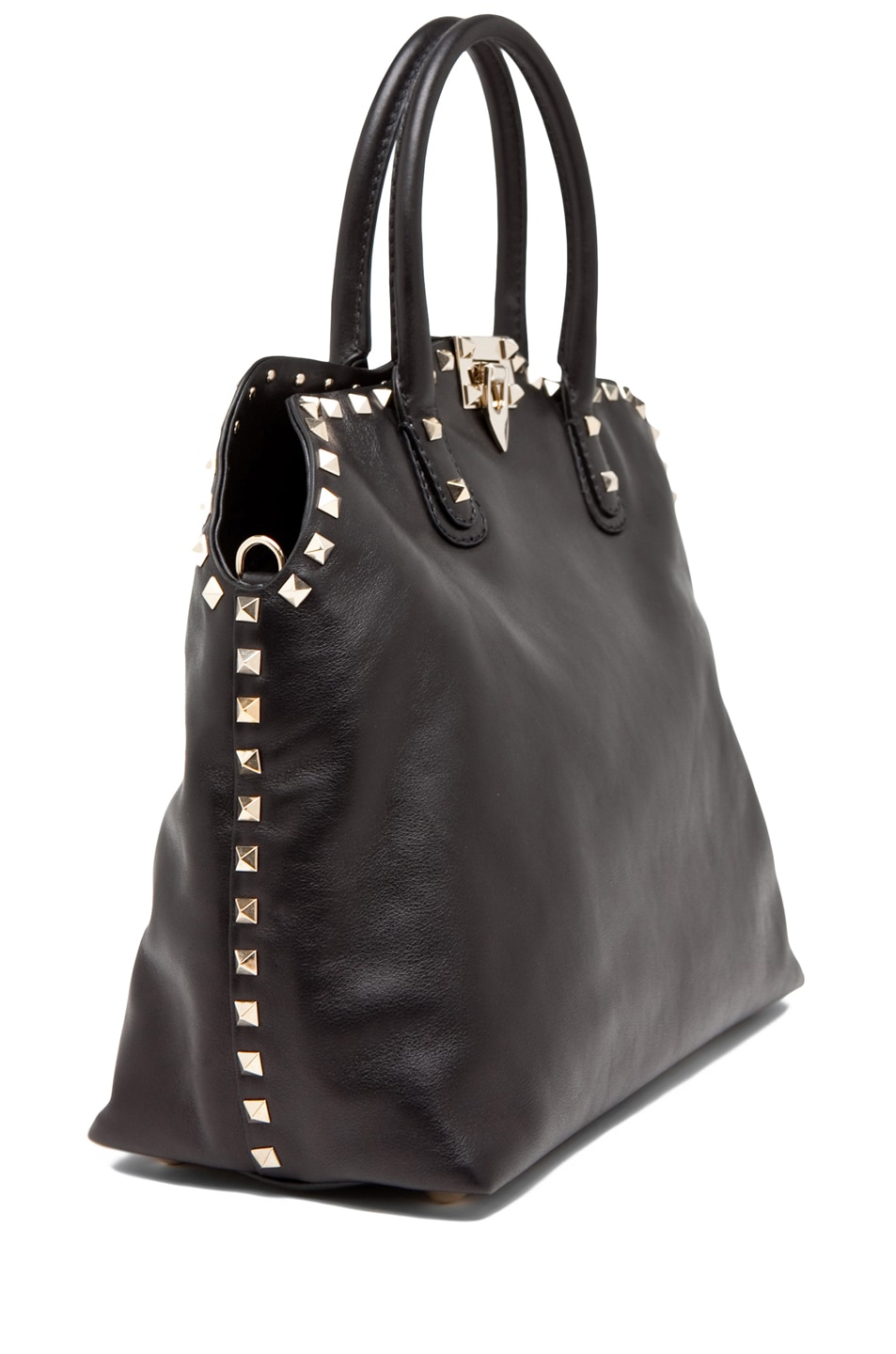 Image 3 of Valentino Rockstud Dome Bag in Black