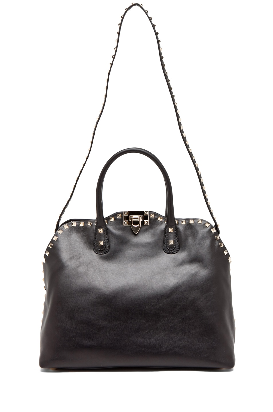 Image 5 of Valentino Rockstud Dome Bag in Black