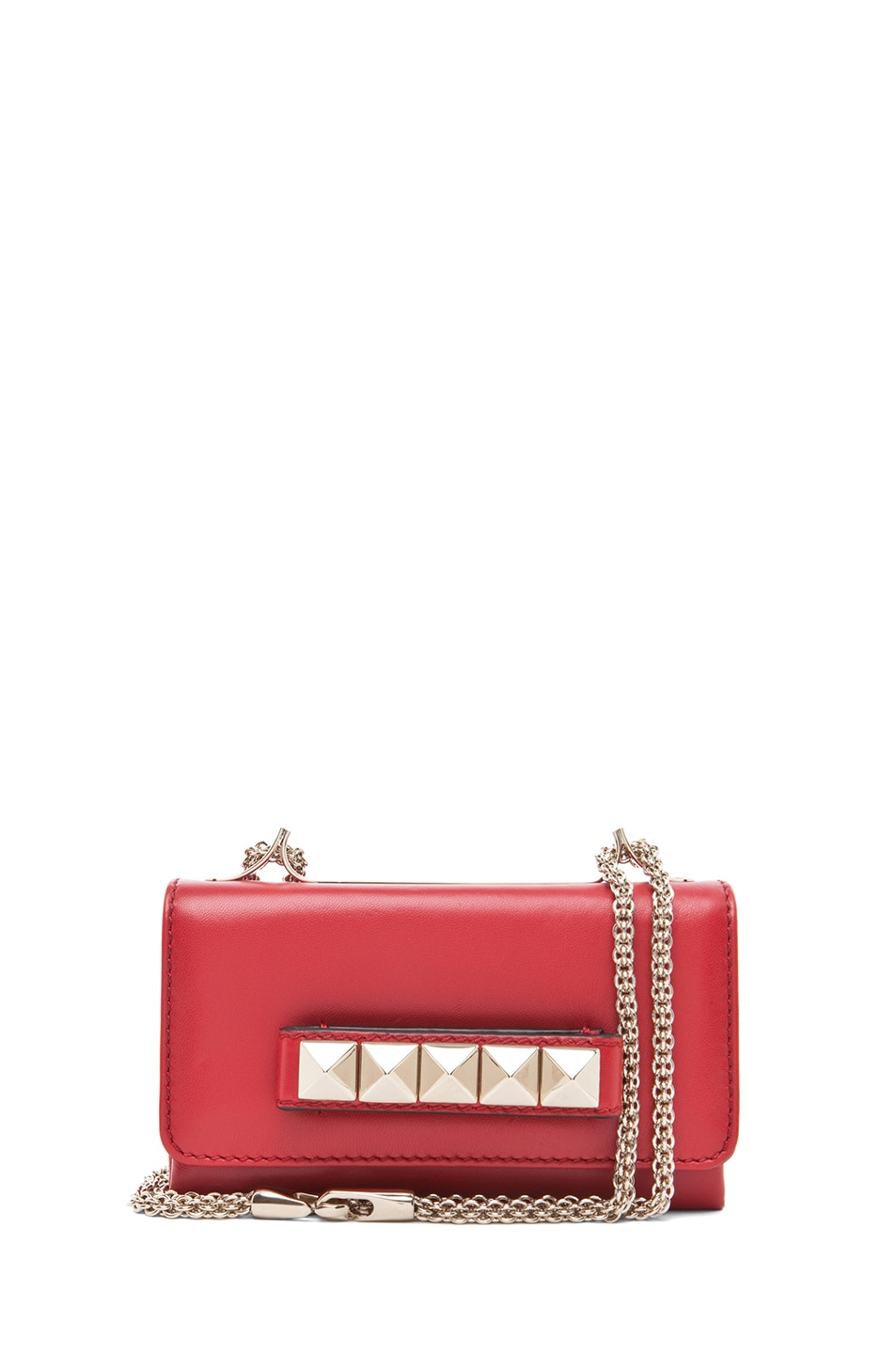 Image 1 of Valentino Va Va Voom Mini Flap Bag in Red