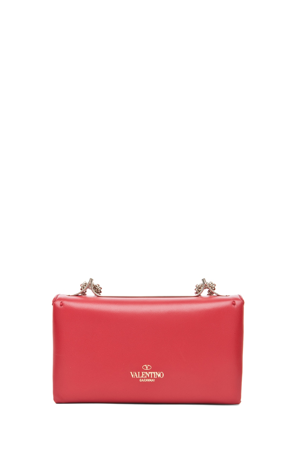 Image 2 of Valentino Va Va Voom Mini Flap Bag in Red