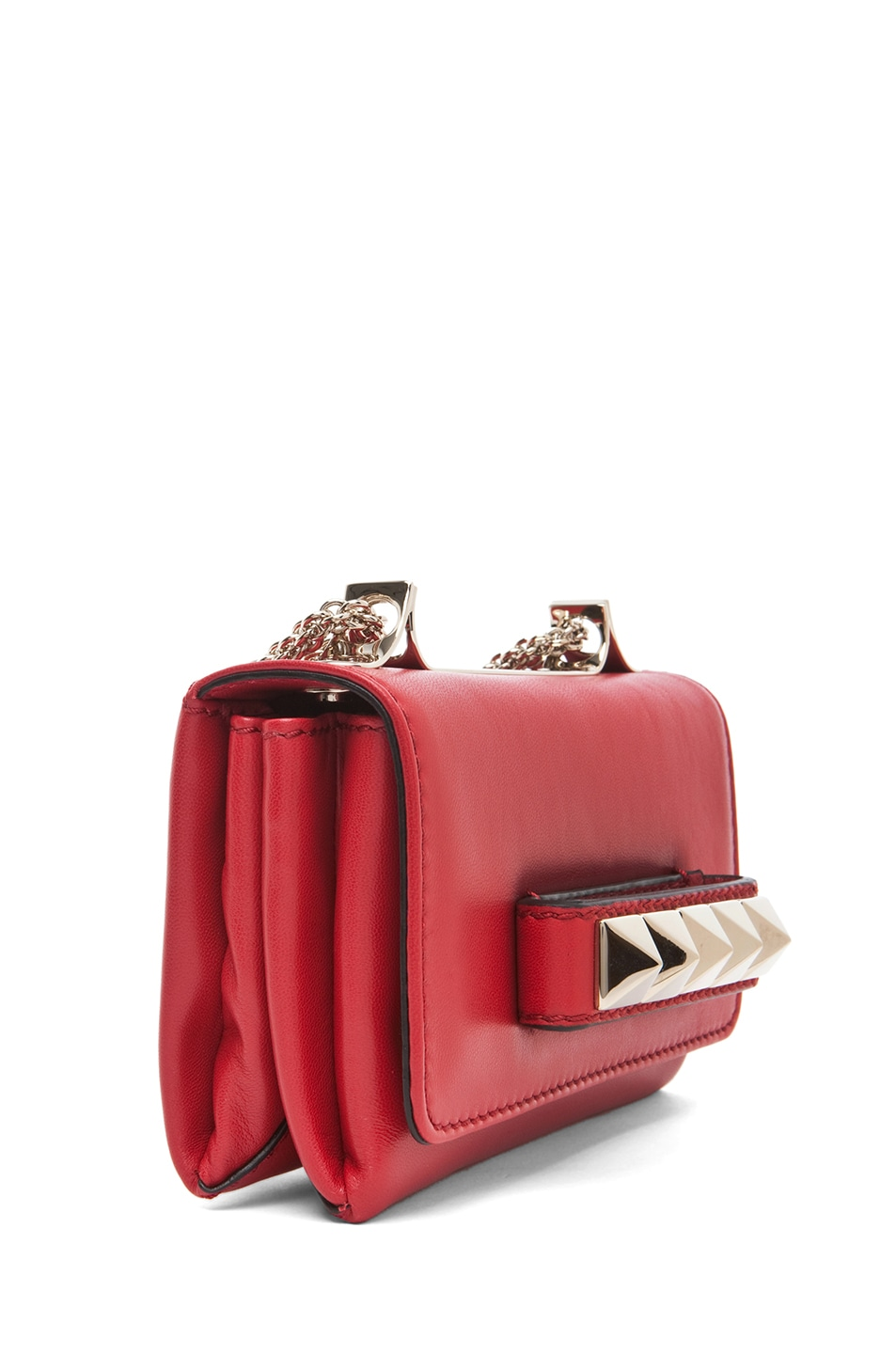 Image 3 of Valentino Va Va Voom Mini Flap Bag in Red