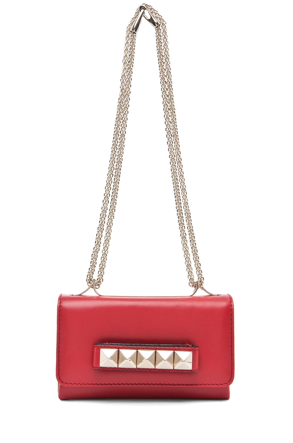 Image 5 of Valentino Va Va Voom Mini Flap Bag in Red