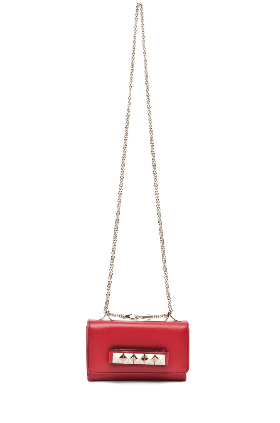 Image 6 of Valentino Va Va Voom Mini Flap Bag in Red