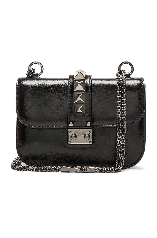 Image 1 of Valentino Noir Small Lock Shoulder Bag in Black