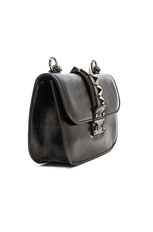 Image 4 of Valentino Noir Small Lock Shoulder Bag in Black