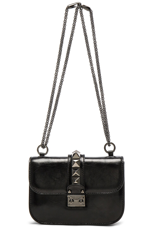 Image 6 of Valentino Noir Small Lock Shoulder Bag in Black