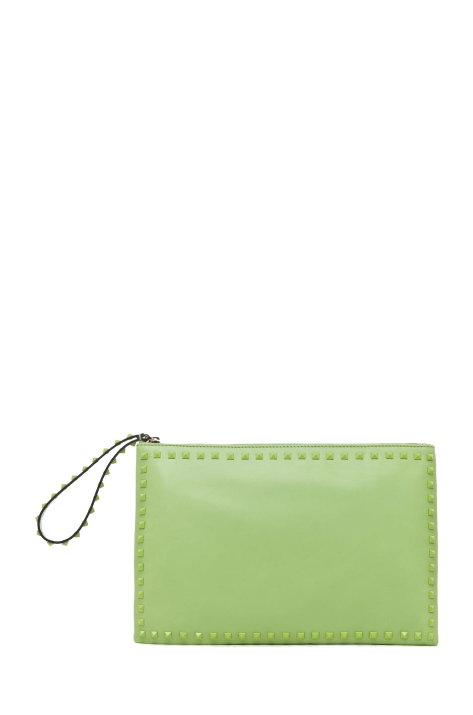 Image 1 of Valentino Rockstud Small Clutch in Pop Apple